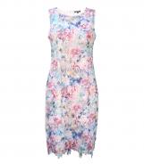 Multicolour Print Lace Dress