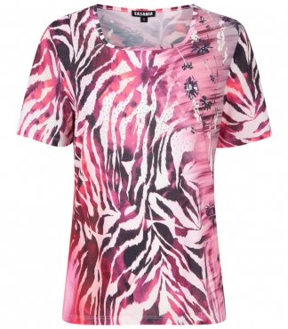 Sqaure Neck T-Shirt with Animal Print *plus sizes available*