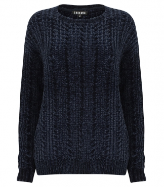 Crew Neck Chenille Jumper