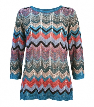 Zig Zag Multi Colour Jumper