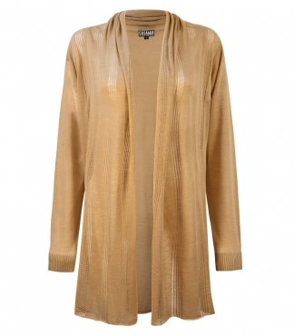 Light Weight Cardigan with Pointelle Detail