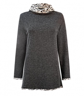 Cross Over Neck Tunic Jumper