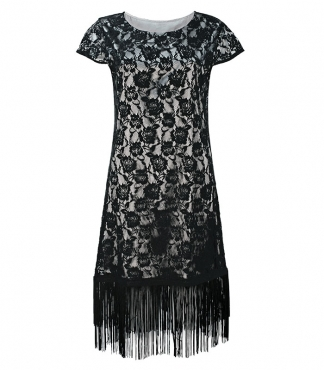 Cap Sleeved Lace Dress