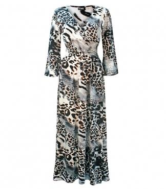 Half Sleeved Wrap Style Dress