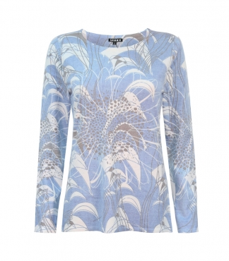 Large Printed Sunflower Design Jumper