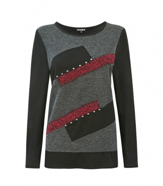 Rectangle Diagonal Panels Jumper