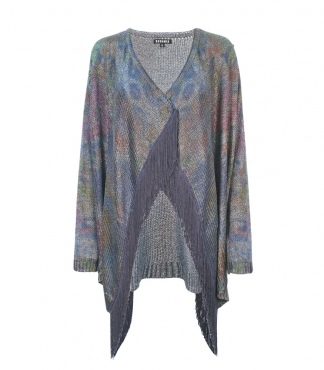 Long Sleeved Multicolour Waterfall Cardigan