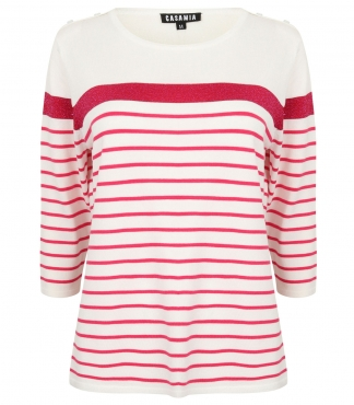 Three Quarter Sleeved Jumper with Stripes *up to XXL available*