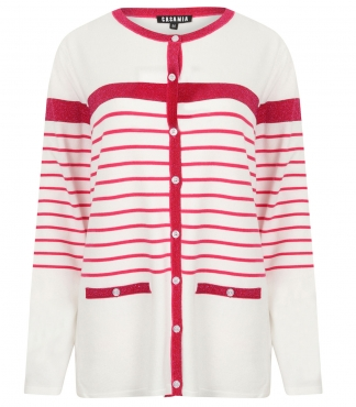 Button-through Striped Cardigan *up to XXL available*