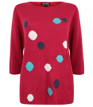 Three Quarter Sleeved Spotted Jumper