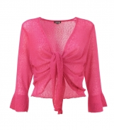 3/4 Sleeves Lightweight Shrug with Frill Cuff