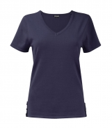 Short Sleeved Jumper with Tab and Button Detail Hem