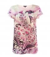 Floral Printed Top with Knitted Front
