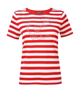 Short Sleeved Jumper with Stripes and Anchor