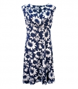 Wrap Style Front Dress in Daisy Print