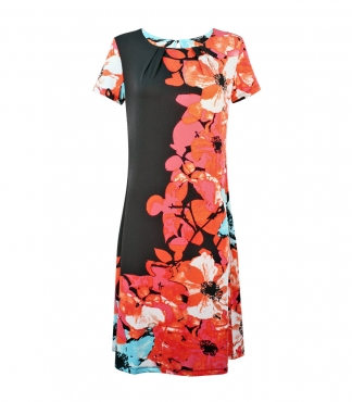 Short Sleeves Floral Dress
