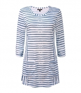 Scoop Neck Striped Tunic T-Shirt