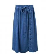 Chambre Skirt with Button Front