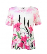 Tulip Print T-Shirt with Heat Diamante