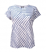 Patchwork Striped Print T-Shirt