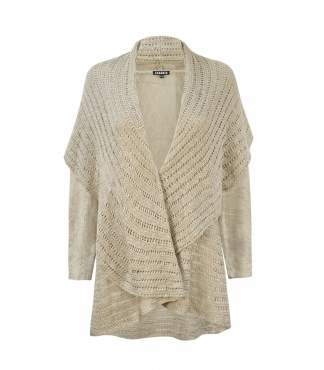 Large Fold Back Collar Cardigan