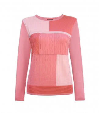 Patchwork Cable Front Body Jumper