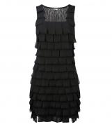 Sleeveless Looped Organza Ribbon Dress