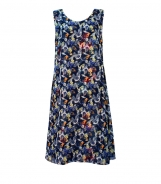 Reversible Scoop Neck Dress with Scarf