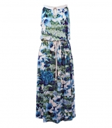 Scoop NeckSleeveless Dress with Floral Print