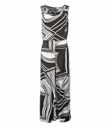 Sleeveless Jumpsuit with Abstract Print