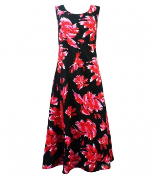 Rose Print Summer Cotton Dress