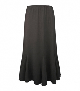 Plain Skirt with Eight Godet Inserts