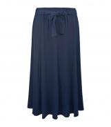 Plain Calf Length Skirt with Belt