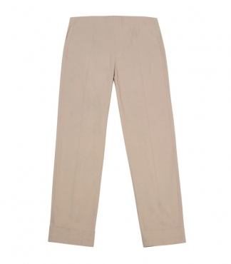Straight-Fit, Cropped, Pull-on Trousers