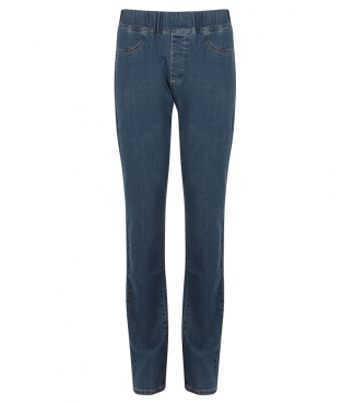 Denim Straight Fit Jegging Trouser (Light Blue Denim)