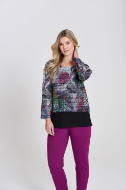 Abstract Fluffy Layered Top