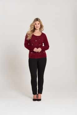 Embellished Fancy Yarn Jumper