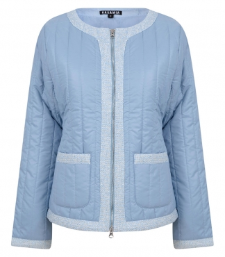 Padded Jacket with Fabric Trims