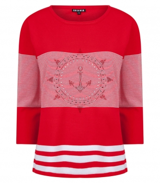 Crew Neck Jumper with Anchor design