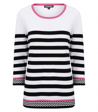 Scoop Neck Striped Jumper