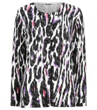 Animal Print Button Through Cardigan